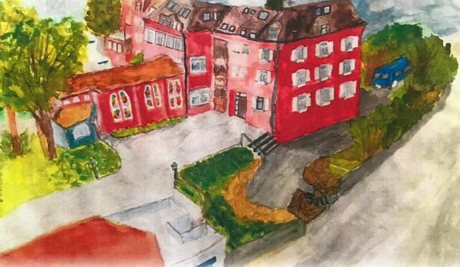 Ausstellung von Schülerarbeiten aus Eckwälden im Casa Nova Rechberghausen